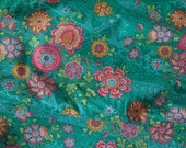 """Amy Butler Lark Heirloom in Jade (green with flowers)  Fabric 0.5m (half a metre) 100% quilting cotton 44/45"""" Wide Rowan"""