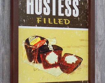 HOSTESS Filled Cup Cakes, Bakery, Food, Desert,  17 1/4 by 13 1/2 inches., Free Shipping