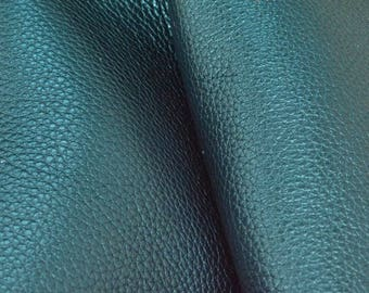 "Metallic Believer's Blue Leather Cow Hide 8"" x 10"" Pre-cut 4-5 oz pebble grain DE-66252 (Sec. 4,Shelf 5,A)"