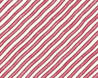 Red/White Bias Stripe 8145-R Gingerbread Christmas