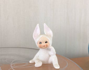 Vintage Lefton Easter Snow Bunny Japan