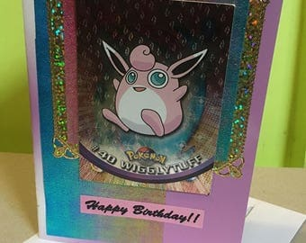 Pokémon ~ Handmade Wigglytuff Birthday Card ~ Gotta Catch Em All! Pokemon