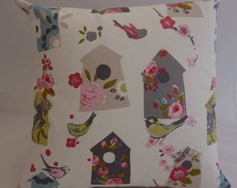 Pillow - Birdhouse design feature cushion, complete with cushion pad, zip fastening