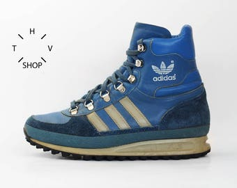 Vintage Adidas Trekking boots / OG Hiking Outdoor leather shoes / Hiker Trail hi tops / Mountaineering Lace up / made in Yugoslavia 80s