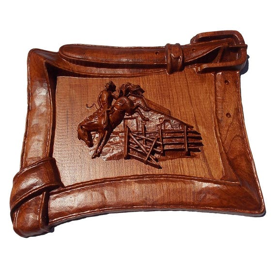 Western Wood Wall Decor : Horse wood carving western rodeo decor