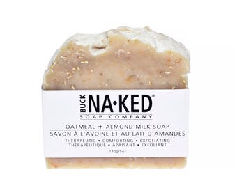 Natural Soap Oatmeal & Almond Milk Soap - Soap, Vegan Soap, Oatmeal Soap, Exfoliating Soap, Cold Process Soap, Unscented Soap, Glycerin Soap