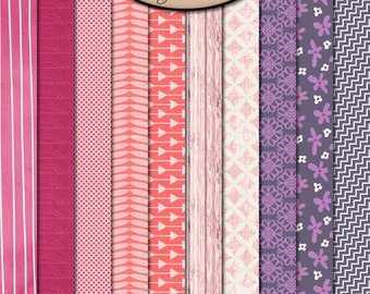 Digital Scrapbooking: Paper, BFF Patterned Paper Pack