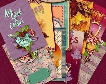 Dashboard B6, Travelers Notebook, Filofax, Daily Planner: Autumn Joys A