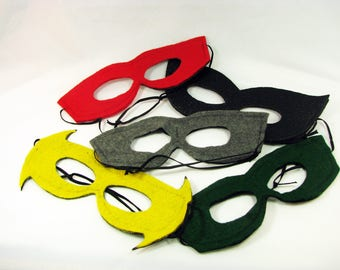 Mask Party Pack, Five Reversible Felt DC Inspired Masks