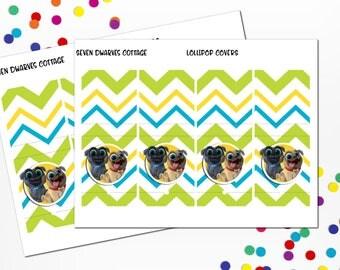 Puppy Dog Pals inspired Birthday Lollipop Covers - Puppy Dog Pals Birthday Supply - Paw-some Birthday Lollipops
