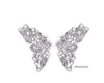 Limited Edition What Lifts You Wings Drawing Print - Signed by Kelsey Montague
