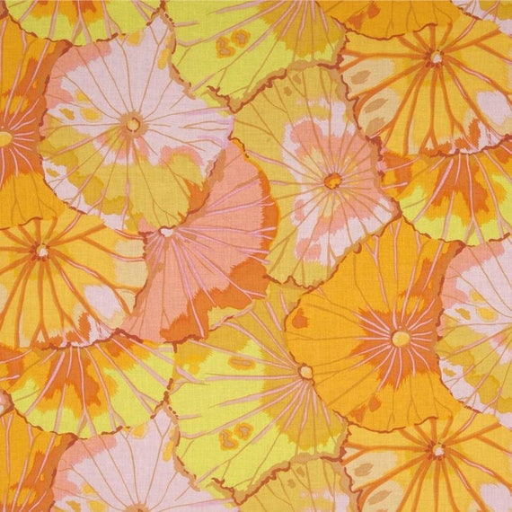 LOTUS LEAF Yellow  GP29  Kaffe Fassett Sold in 1/2 yd increments
