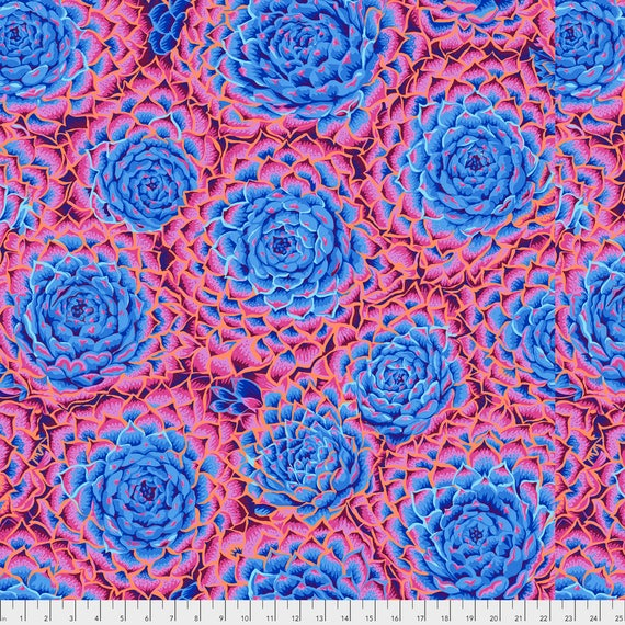 Pre-Order SUCCULENT BLUE PWPJ091  Philip Jacobs for Kaffe Fassett Collective Sold in 1/2 yard increments Pre-Order Item