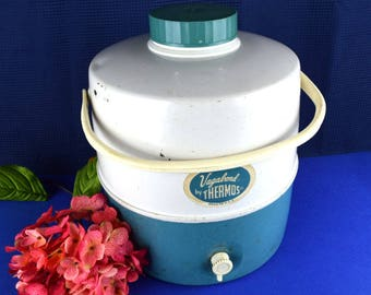Mid Century 2 Gallon Vagabond Water Jug Cooler by Thermos Brand with Spigot Picnic Beverage Jug