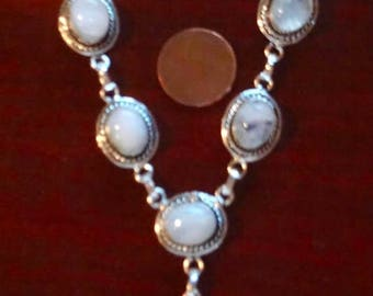 ENDLESS SUMMER SALE Incredibly Flashy Austrian Alps Rainbow Moonstone Necklace  925 Sterling Silver 18.5""
