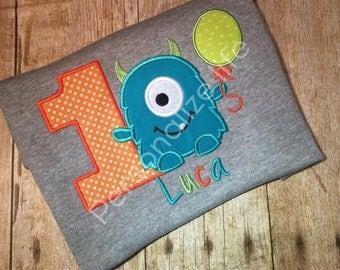 Monster Birthday Shirt/first Birthday/Monster 1st Birthday Shirt/Boy's Birthday Shirt/Boys Monster Birthday Shirt/monster birthday party.