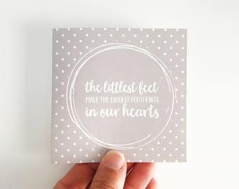 New Baby Mini Card {FOOTPRINTS}