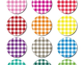 50% OFF Cupcake toppers Rainbow Gingham - Instant Download - Flag pennant