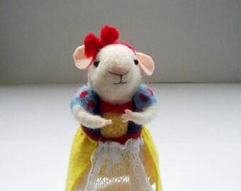 felt mouse, snowwhite, girl gift