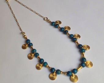 24k Gold Vermeil Labyrinth Disc Necklace