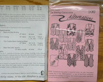 Sewing Alternatives 102 Vest Pattern