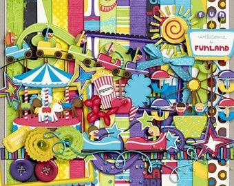 ON SALE NOW 65% off Funland Digital Scrapbooking Kit