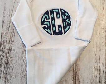 Personalized Onesie Or Layette Gown