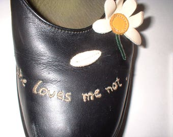 Black CAMPER Daisy Wedge Shoes ... she loves me ... she loves me not ...  Size 8 M