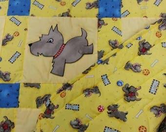 scottie dog baby quilt