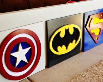 Merveilleux Superhero Wall Decor