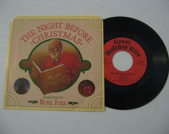 Burl Ives - The Night Before Christmas - Circa 1986 (45rpm)
