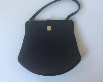 Vintage Black Dafan Purse 1960s Made in France