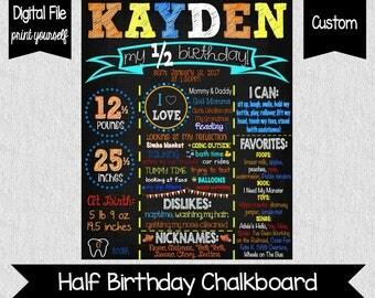 Under The Sea Half Birthday Chalkboard - DIGITAL - Underwater Birthday Sign - Fish Chalkboard - Baby's 6 Month Sign - Milestones