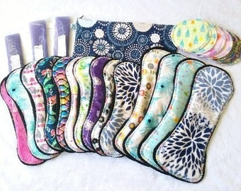 Ultimate Postpartum Ice Pad Set ** with Hanging Wetbag** Made to Order- 14 Pads, Ice packs, Full set, Pampered Shop