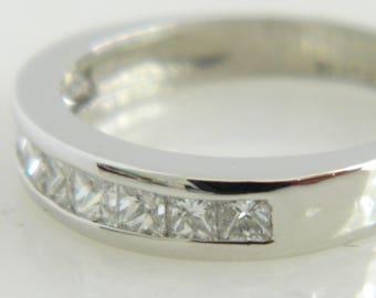 Beautiful Platinum 1.0 Carat Diamond Wedding Band