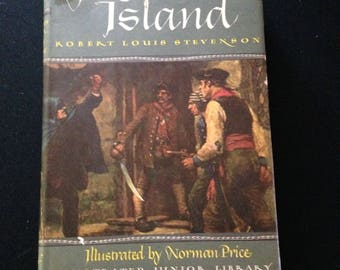 Vintage, 1947. Treasure Island by Robert Louis Stevenson. Illustrated by Norman Price. Illustrated Junior Library Edition. Grosset & Dunlap.