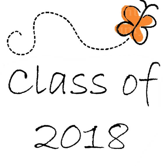 Class of 2018 Butterfly Graduation - Edible Cake and Cupcake Topper For Birthday's and Parties! - D22806