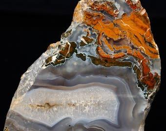 Awesome Polished Oregon Plume Agate Slab- A285
