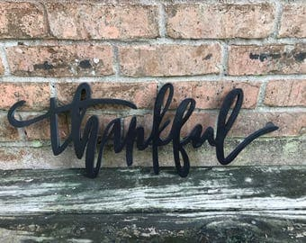 2 FT thankful sign