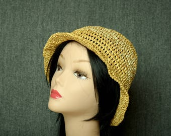 linen bucket hat crochet beanie sun hat beach accessories bucket hat women summer hat eco friendly brim hat