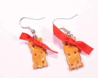 Cherry cookie earrings