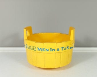 Vintage Fisher Price men in a Tub #142 - Fisher Price 1970 - Fisher Price for the bath - Fisher Price replacement part - 70's Fisher Price