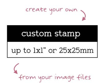 "Custom Logo Stamp, Up to 1""x1"", Personalised Business Stamp, Custom Image Stamp, Custom Branding Stamp, Custom Business Stamp, Craft Stamp"