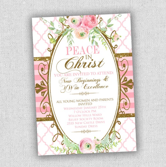 lds young womens new beginnings invitation or evening of
