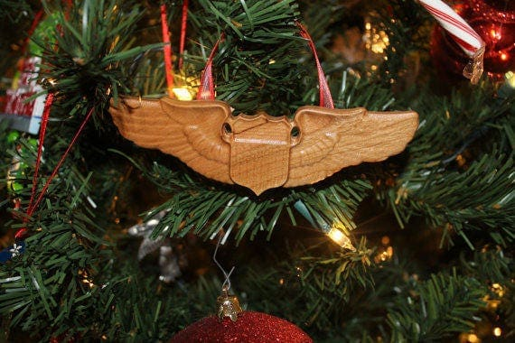 U.S. Air Force,  pilot, USAF,Air Force gifts, wings, Air Force Pilots, air force ornament retirement US Airforce gifts for men women wives
