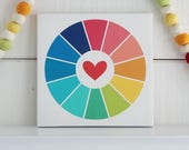 Color wheel 9x9 inches