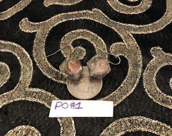 Orgonite Earrings Pink Opal