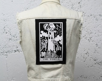 The Tower Tarot Card Back Patch