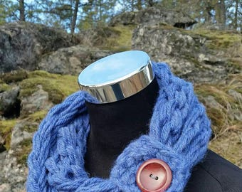 Kids Girls scarf Womens Petite Petite Girls Sky Blue scarf Kids scarf Scarflette Wool Scarf Girls scarf kids accessories Girls Infinity Cowl