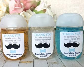 Little Man Baby Shower Favor Label, Little Man Birthday Party Favor  Sticker, Hand Sanitizer